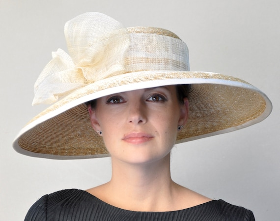 Wedding Hat, Derby Hat, Wide Brim Hat, Church Hat, Formal Hat, Race Hat Garden Party Hat, Special Occasion Hat