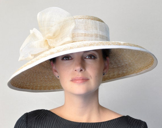 Kentucky Derby Hat, Downton Abbey Hat, Wedding Hat, Wide Brim Hat, Church Hat, Formal Hat, Garden Party Hat, Special Occasion Hat