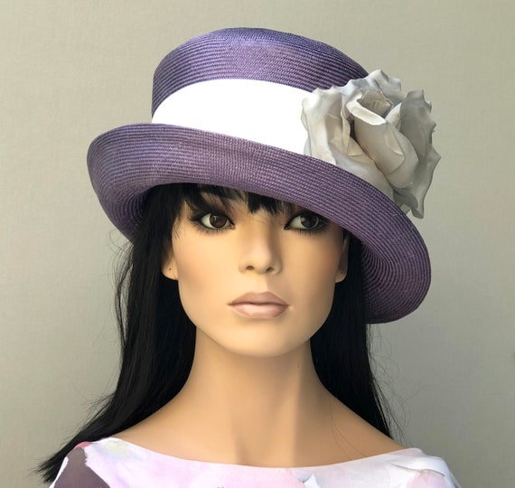 Women's Purple Hat, Cloche, Downton Abbey hat, 1920s 1930s hat, Wedding Hat, Miss Fisher Hat, Church Hat, Formal Hat, Tea Party Hat