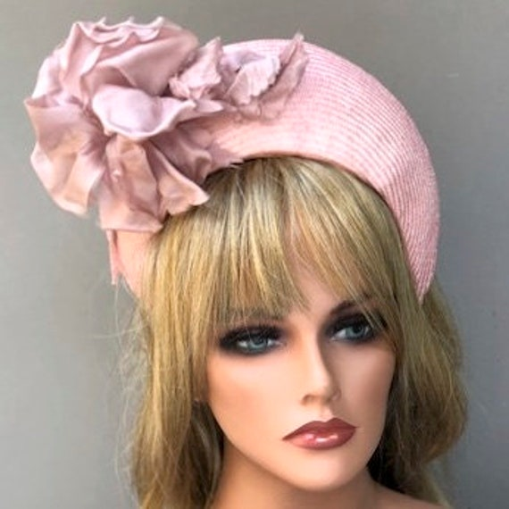 Wedding Hat, Kate Middleton Hat, Pink Headband Hat, Ladies Headband Hat, Women's Formal Hat, Duchess of Cambridge Hat, Occasion Hat