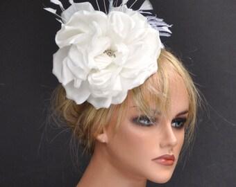 Derby Fascinator, Wedding Fascinator Hat, Cream Ivory Fascinator, Derby Hat, Women's Formal Hat, Wedding Hat