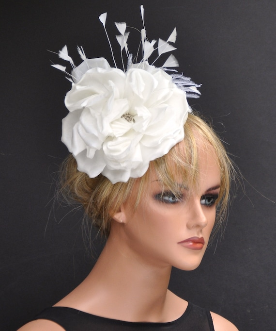 Derby Fascinator, Wedding Fascinator Hat, Cream Ivory Fascinator, Derby Hat, Women's Formal Hat, Wedding Hat