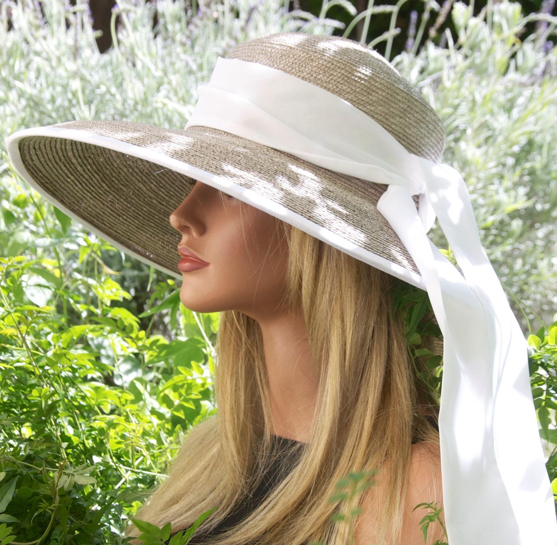 Wedding hat, Women\'s Taupe Hat, Ascot Hat, Audrey Hepburn Hat ...