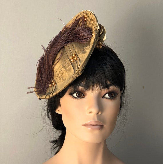 Women's Fascinator Hat, Kentucky Derby Hat, Fascinator Saucer Hat, Formal Hat, Cocktail Hat, Dressy Hat, Renaissance Hat