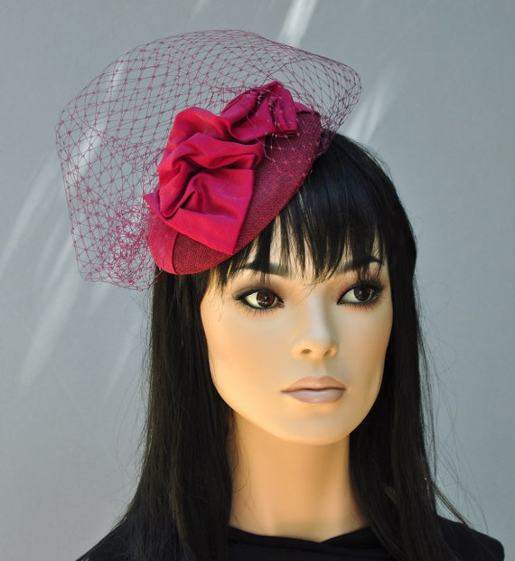 Wedding Hat, Church Hat, Wedding Fascinator, Pillbox Hat, Cocktail Hat, Women's fascinator Hat
