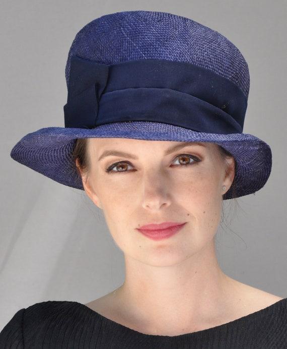 Wedding hat, Navy Hat, Derby hat, Cloche, Formal hat, Downton Abbey hat