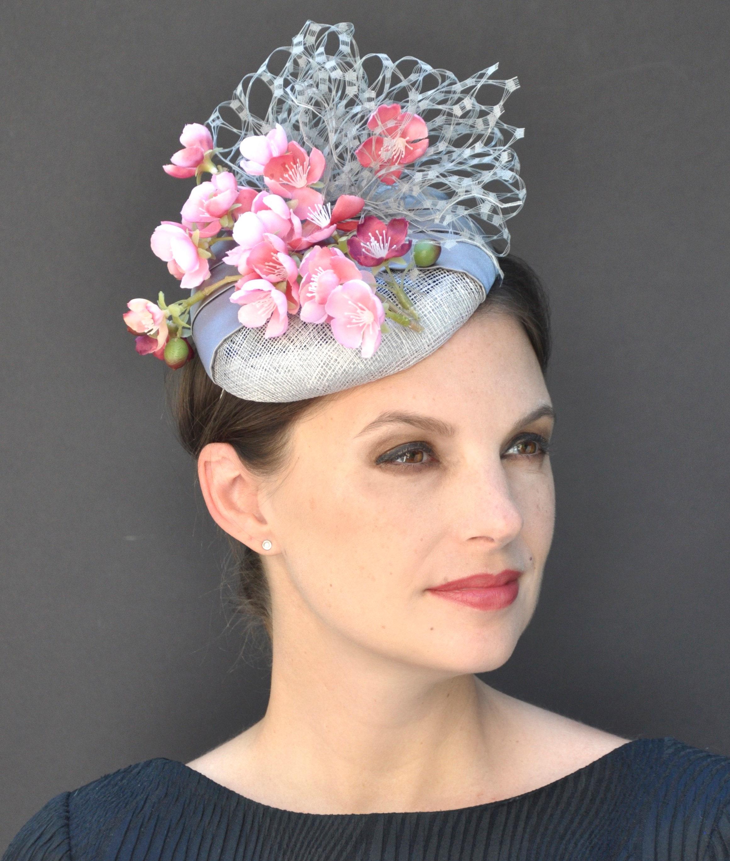 Pillbox Hat Wedding Fascinator Kate Middleton Cocktail Formal Occasion Percher
