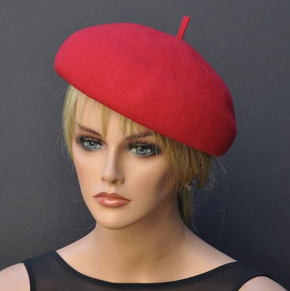 Ladies Red Hat, Women's Red Hat, Winter Hat, Red Winter Hat, Formal Hat, Ladies Winter Hat
