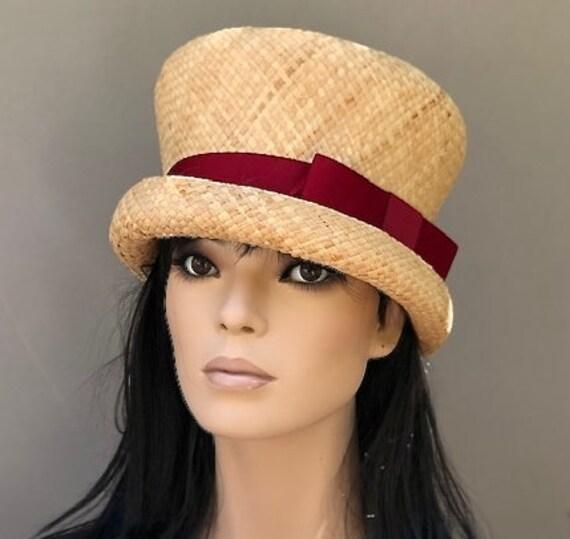 Kentucky Derby Hat, Wedding Hat, Women's Straw Top Hat, Church Hat, Ladies Formal Hat, Garden Party hat, Tea Party Hat