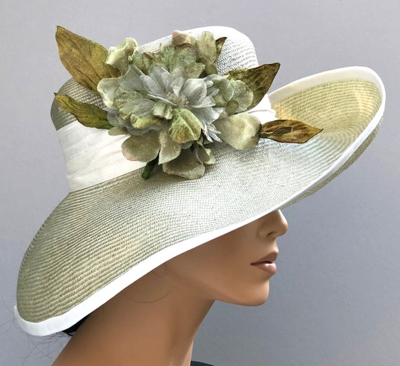 Wedding Hat, Kentucky Derby Hat, Church Hat, Ladies Derby Hat, Women's formal summer hat