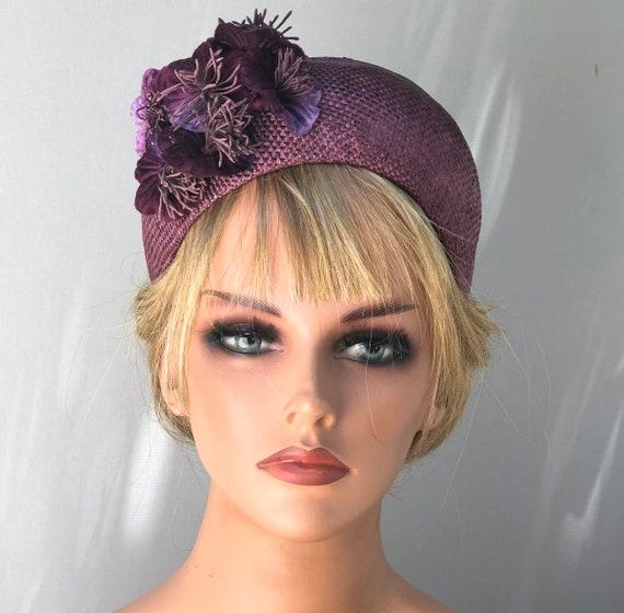 Wedding Hat, Kate Middleton Hat, Purple Headband Hat, Ladies Headband Hat, Women's Formal Hat, Duchess of Cambridge Hat, Occasion Hat