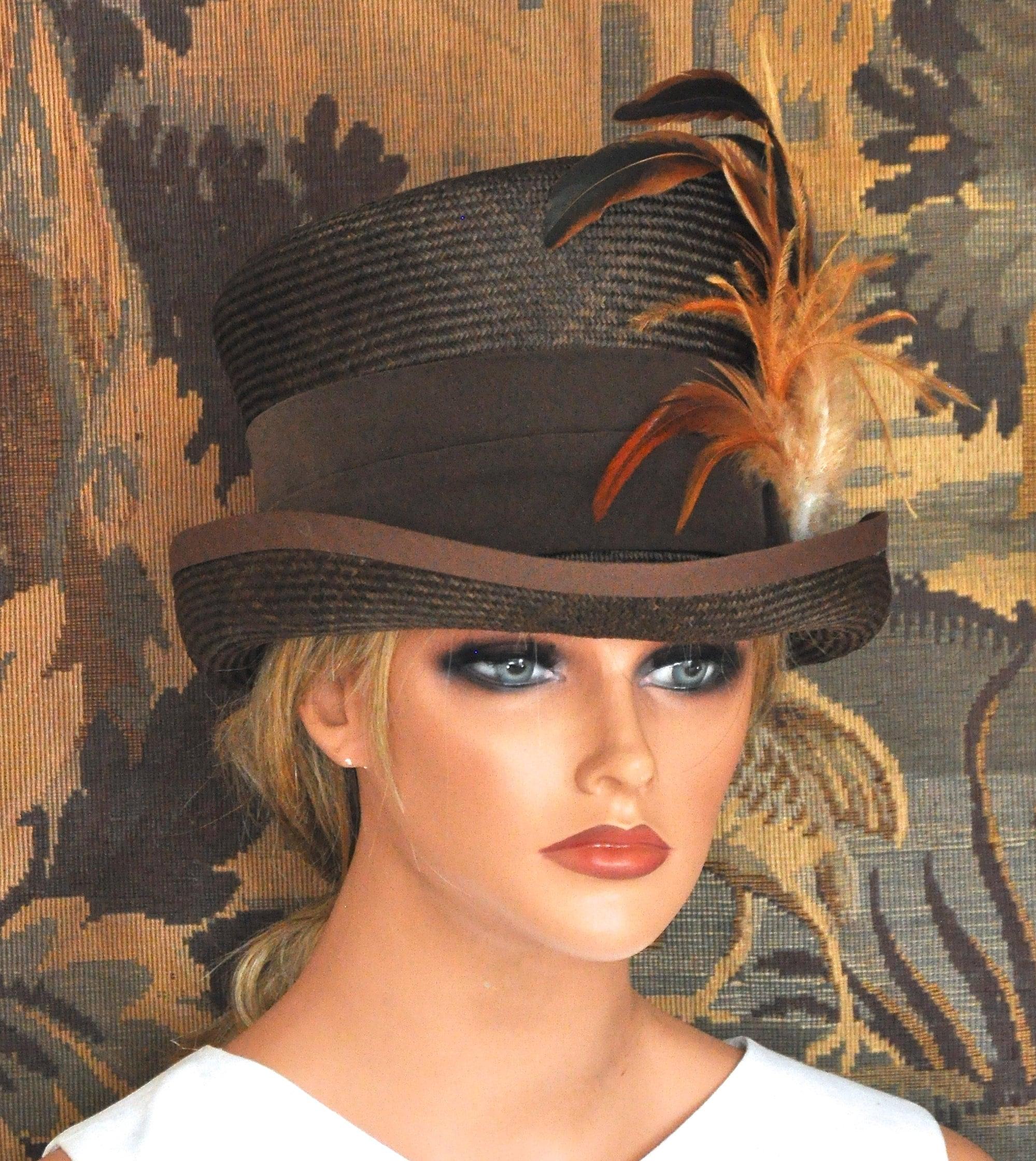 87fedaa49d483 Ladies Brown Hat