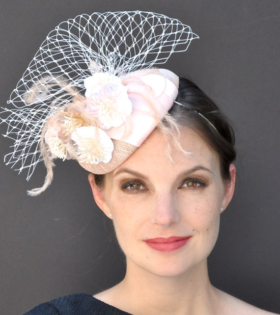 Wedding Hat, Kentucky Derby Hat, Church Hat, Derby Fascinator Hat, Garden Party Hat, Formal Hat, Cocktail Hat