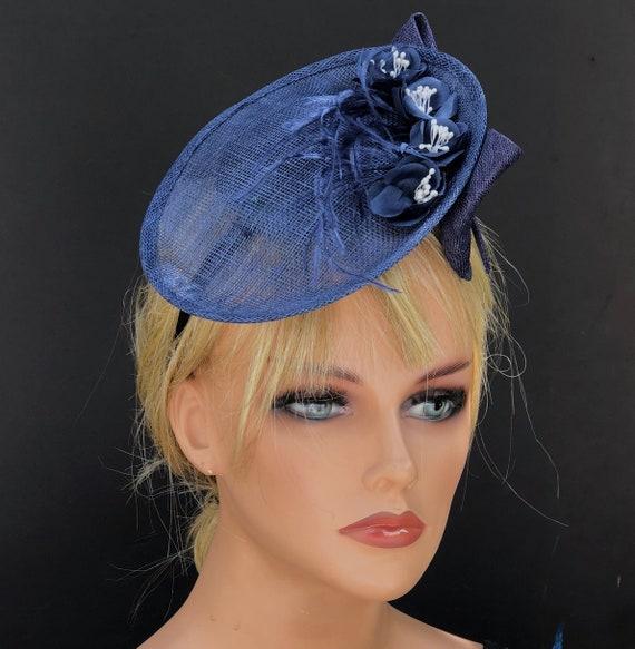 Women's Fascinator Hat, Royal Ascot Hat, Derby Hat, Ladies Navy Hat, Kate Middleton Hat, Special Occasion Hat, Women's formal hat