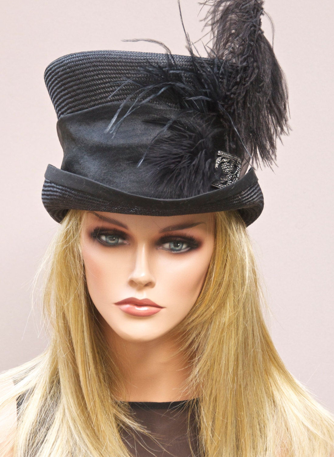 Steampunk Womens Top Hat With Veil