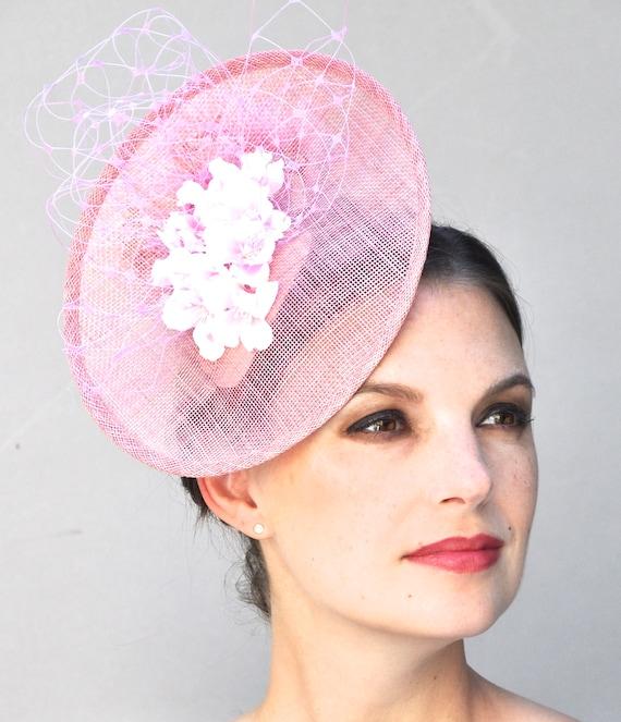 Wedding Hat, Derby Fascinator Hat, Derby Hat, Wedding Fascinator, Fascinator Hat, Pink Fascinator, Formal Hat