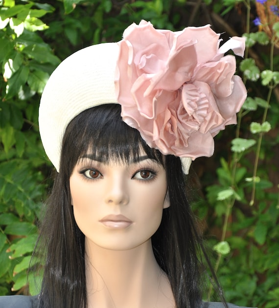 Kate Middleton Crown Headband Hat, Wedding Hat Kentucky Derby Hat Women's Fascinator Hat Flower Crown Women's Pink hat Ascot Hat Formal Hat