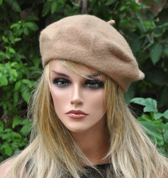 Wool Beret, French Beret, Camel Tan Beret, Gray Beret, Green Beret, Winter Hat