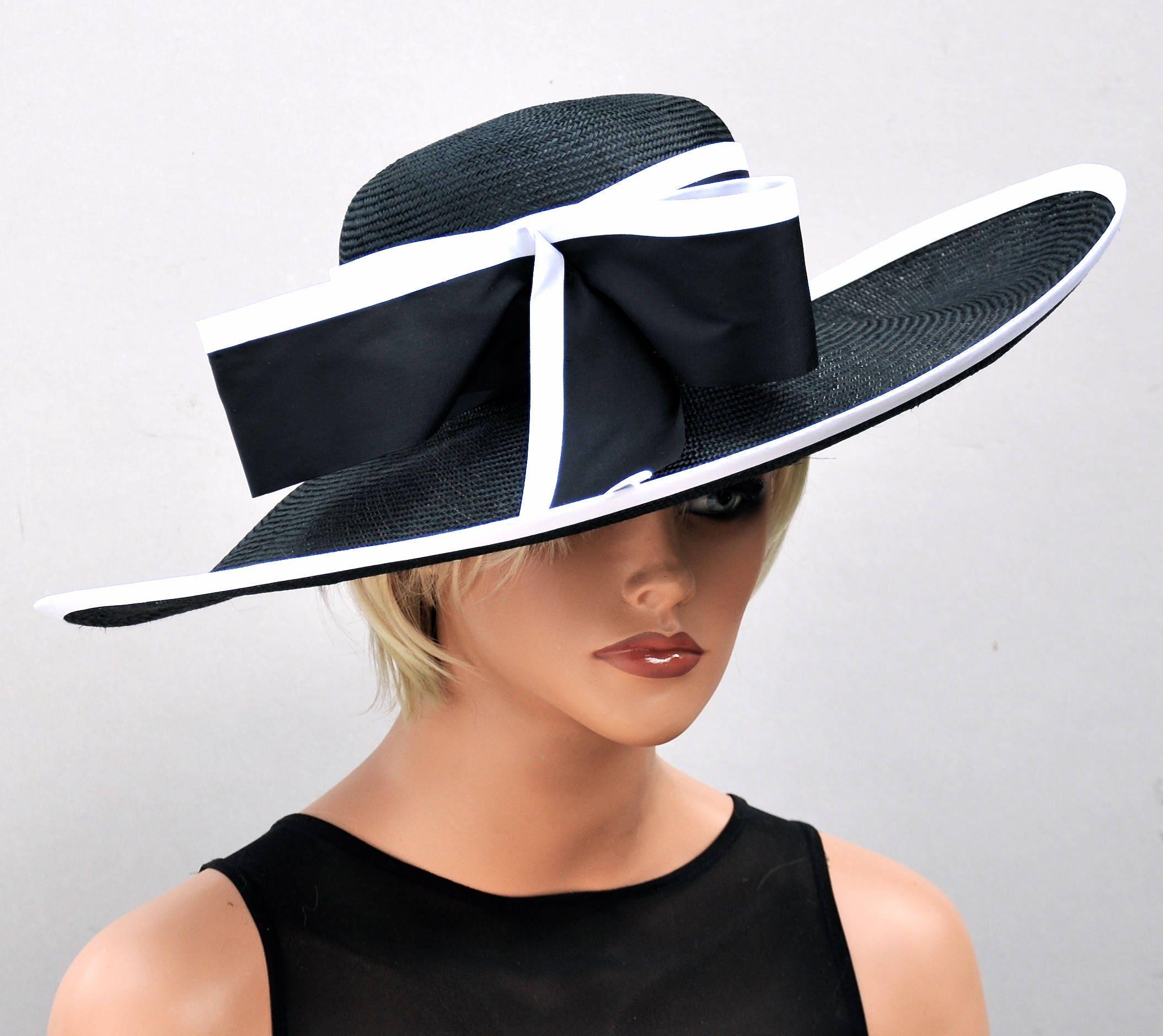 Wedding Hat, Derby Hat, Black And White Hat, Kentucky
