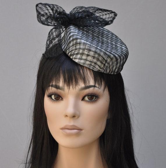 Wedding Hat,  Fascinator Hat,  Kentucky Derby Hat, Pillbox Hat, Formal Hat, Derby Fascinator, Special Occasion Hat, Dressy Hat