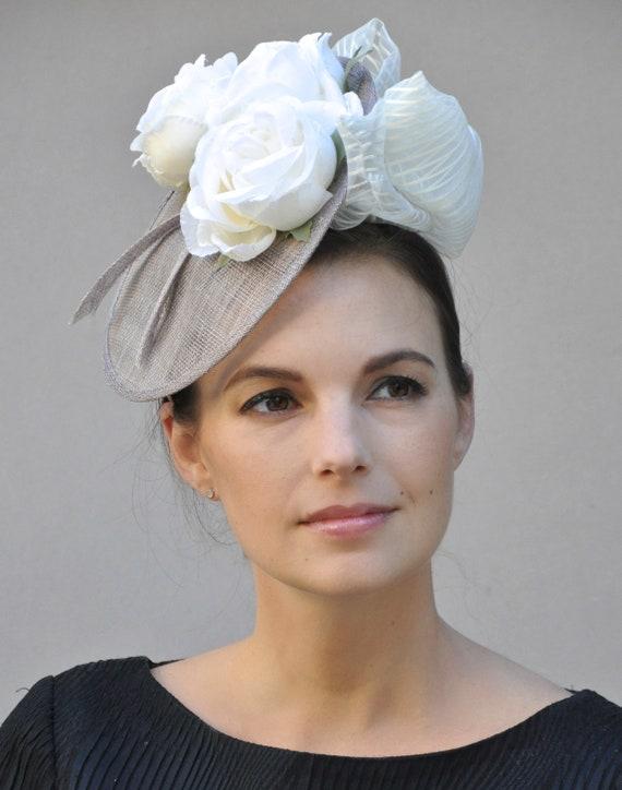Wedding Hat, Kentucky Derby Hat, Saucer Hat, Headpiece, Fascinator Hat, Church Hat, Derby Fascinator, Formal Hat, Dressy Hat