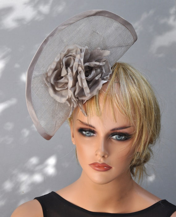 Kentucky Derby Hat, Fascinator Hat, Ladies Taupe Hat, Derby Fascinator, Dressy Hat, Percher, Ascot Hat