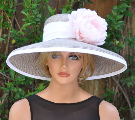 Kentucky Derby Hat, Wedding Hat, Dressy Hat, Formal Hat, Derby Hat, Ascot Hat, Special Occasion Hat, Taupe Hat