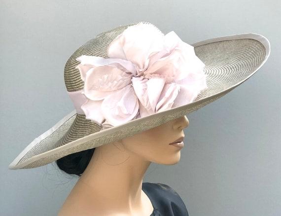 Wide Brim Kentucky Derby Hat, Wedding Hat, Church Hat, Formal Hat, Special Occasion Hat, Ascot hat