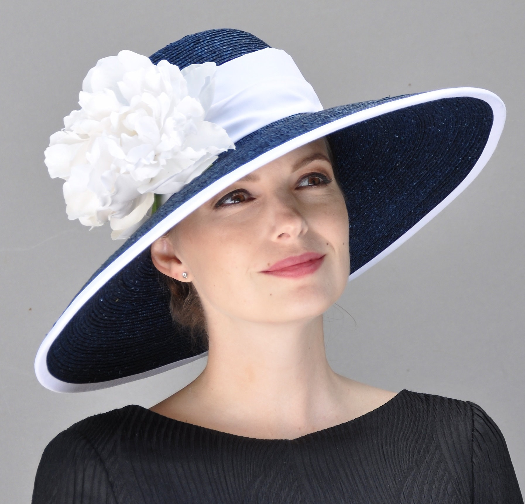 a27745678c532 Ladies Navy and White Hat