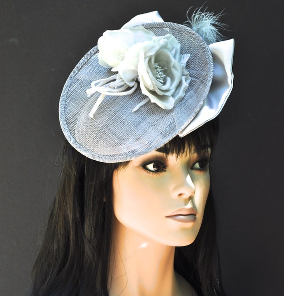 Wedding Hat, Women's Silver Gray Hat,  Church Hat, Ascot Hat, Occasion Hat, Formal Hat, Ladies Gray Hat, Dressy Hat