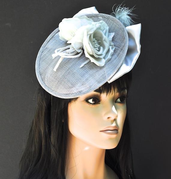Kentucky Derby Hat, Wedding Hat, Wedding Hat, Church Hat, Ascot Hat, Occasion Hat, Formal Hat, Ladies Gray Dressy Hat