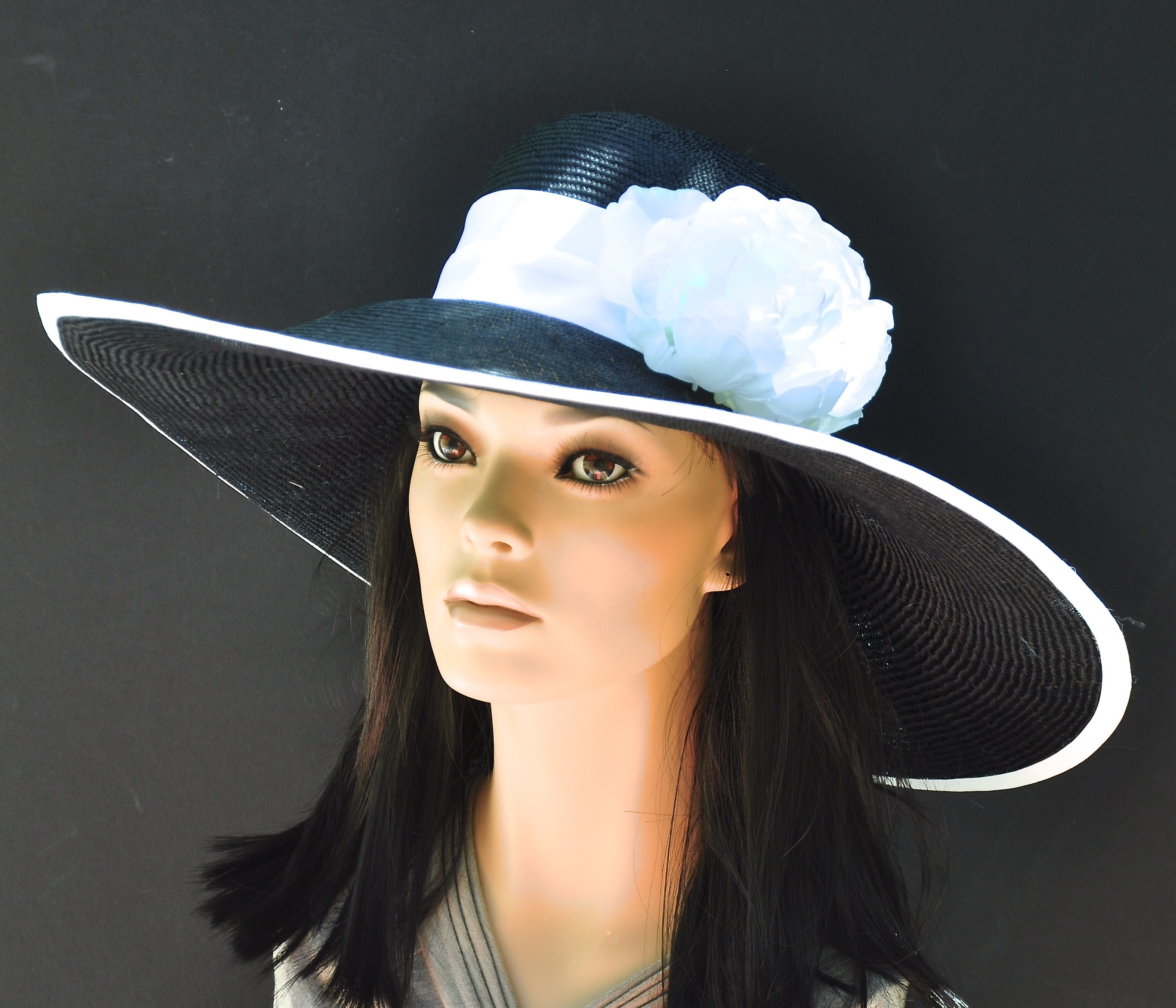 Kentucky Derby Hat, Black And White Hat, Occasion Hat