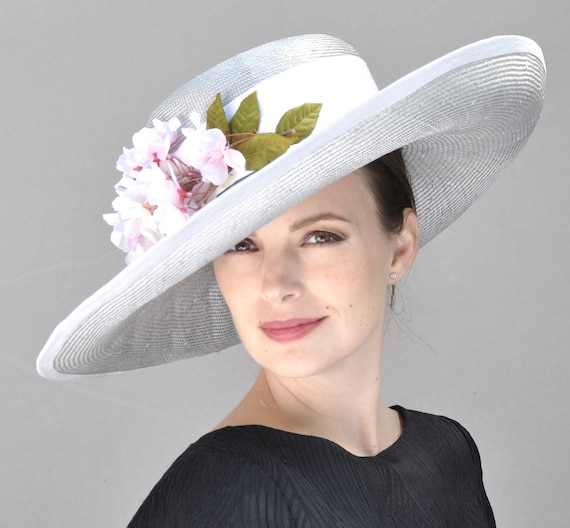 Garden Party Hat, Wedding Hat, Wide Brim Formal Hat, Occasion Hat, Millinery, Elegant Summer Hat