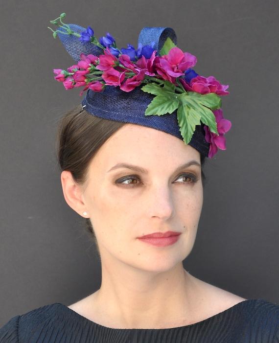 Fascinator, Wedding Fascinator Hat, Derby Fascinator, Wedding Hat, Formal Hat, Pillbox Hat, Percher