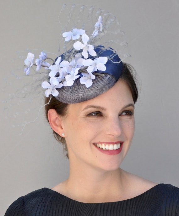 Kentucky Derby Hat, Fascinator Hat, Wedding Fascinator, Wedding Hat, Pillbox Hat, Derby Fascinator