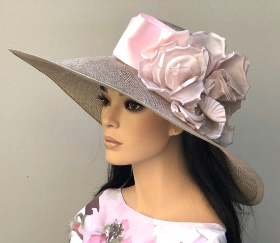 Kentucky Derby Hat, Wedding Hat, Church Hat, Wide Brim Hat, Special Occasion Hat, Women's Formal Hat, Royal Ascot hat