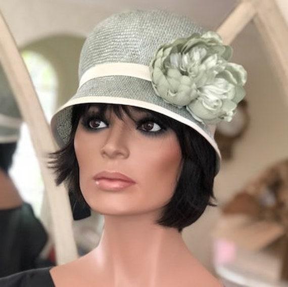 Wedding Hat, Women's Aqua Hat, Vintage Style Hat, Ladies Aqua Cloche, 1920s 1930s Hat, Formal Hat, Cloche Hat