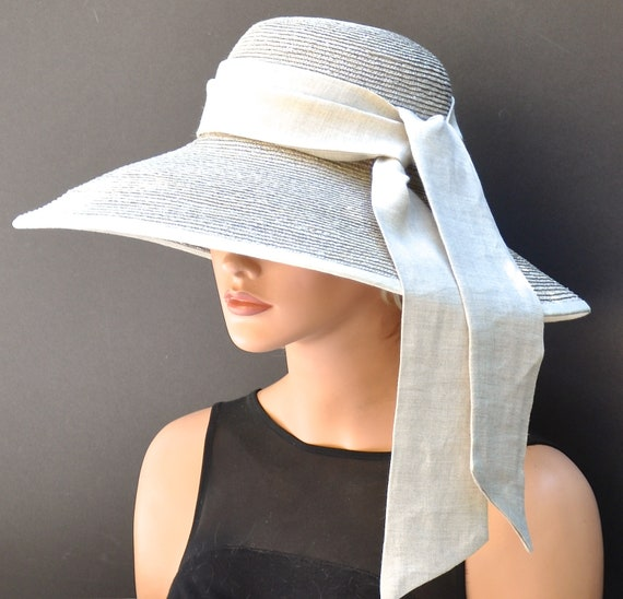 Wedding Hat, Church Hat, Derby Hat, Formal Hat, Sand Taupe Hat, Dressy Hat, Elegant Hat, Linen Hat, Audrey Hat