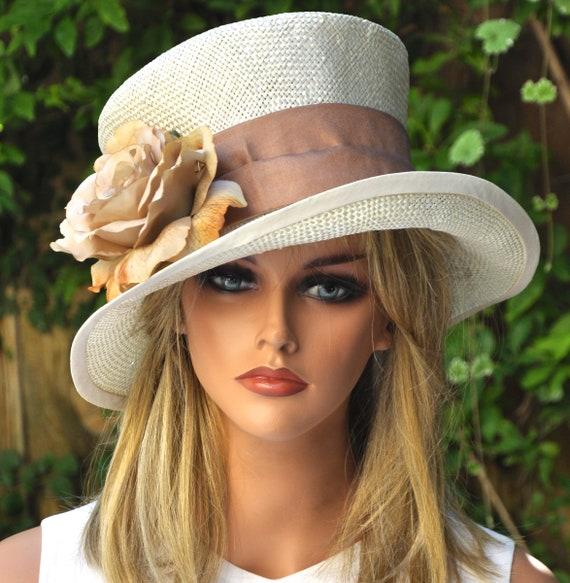 Garden Party Hat, Wedding Hat, Formal Hat, Tea Party Hat, Vintage Hat, Derby Hat, Romantic Hat