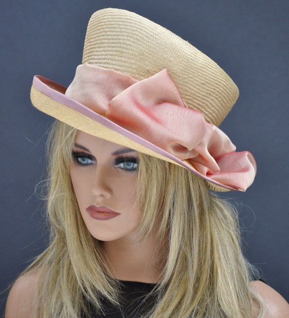 Kentucky Derby Hat, Boater, Mad Hatter Boater, Wedding Guest Hat, Formal Hat, Special Occasion Hat
