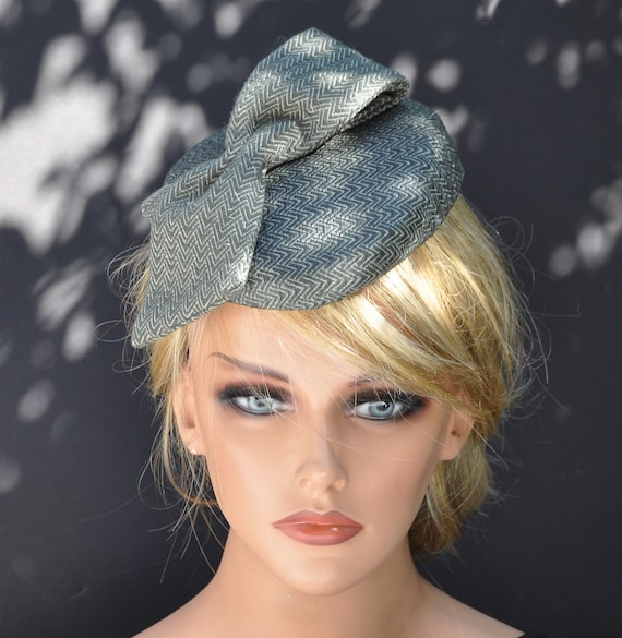 Winter Fascinator Hat, Tweed Fascinator, Tweed Hat, Tailored hat, Kate Middleton Hat, Meghan Markle  hat, Duchess Hat