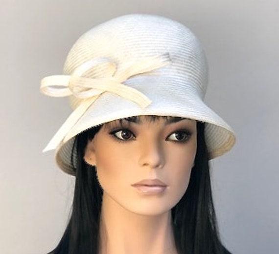 Wedding Hat, Kentucky Derby Hat, Cloche, Downton Abbey Hat, Miss Fisher Hat, Ladies Cream Hat, Tea Party Hat, Garden Party Hat, Ascot Hat