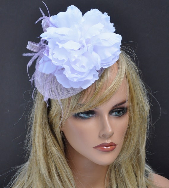 Kentucky Derby Fascinator Hat, Wedding Hat, Ladies Lilac Lavender Hat, Kentucky Derby Hat, Formal Hat