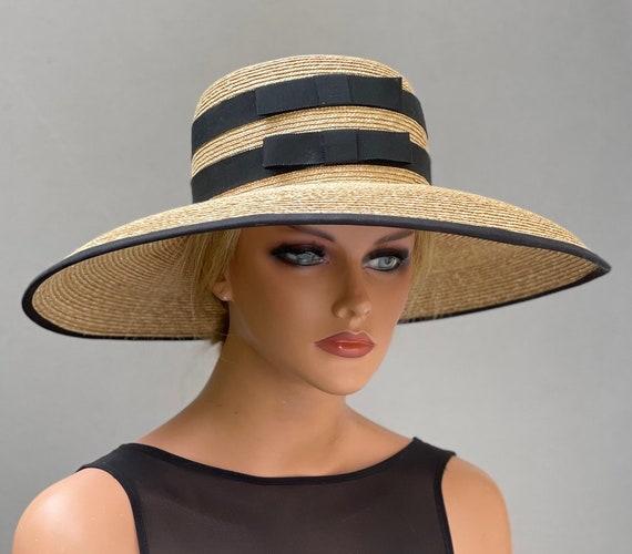 Women's Kentucky Derby Hat, Wedding Hat, Royal Ascot Hat, Audrey Hepburn Hat, Garden Party Hat, Ladies Formal Wide Brim Hat