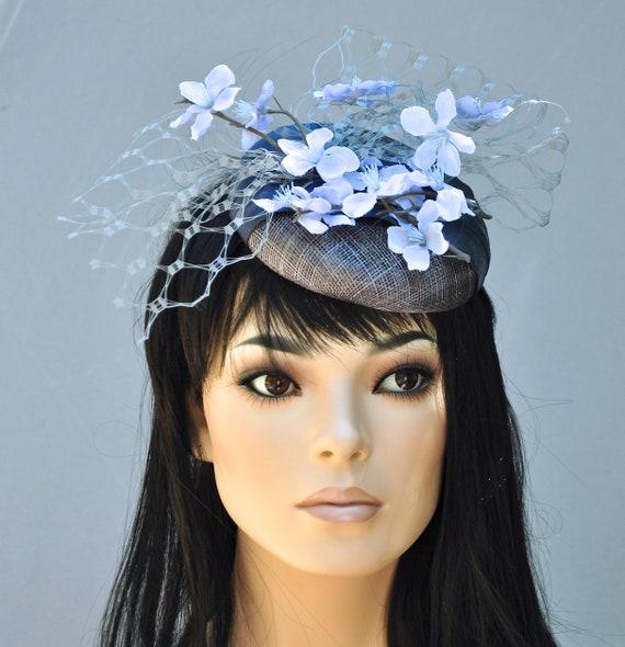 Kentucky Derby Hat, Fascinator Hat, Wedding Fascinator, Wedding Hat, Royal Ascot Hat, Pillbox Hat, Derby Fascinator