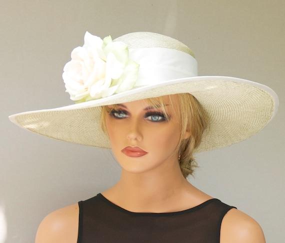 Wedding Hat, Kentucky Derby Hat, Church Hat, Formal Hat, Wide Brim Hat, Dressy Hat, Tea Party Hat, Garden Party Hat