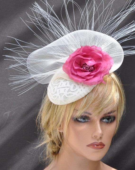 Ivory Cream Fascinator Hat, Formal Ivory Hat, Wedding Hat, Kentucky Derby Hat, Derby Fascinator, Special Occasion Hat, Dressy Hat