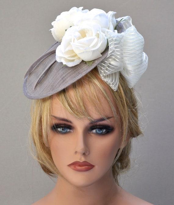 Wedding Hat, Saucer Hat, Headpiece, Fascinator Hat, Kentucky Derby Hat, Church Hat, Derby Fascinator, Formal Hat, Dressy Hat