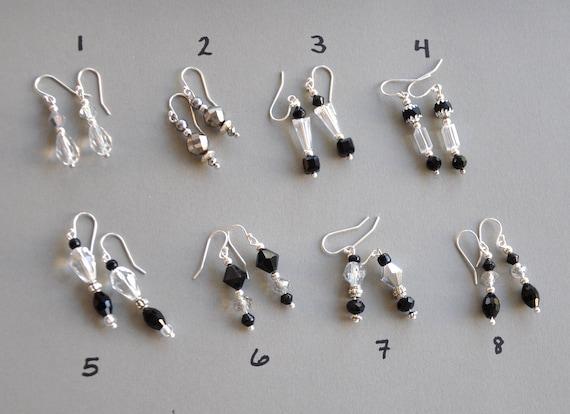 Art Deco Earrings, Black Crystal Drop Earrings, Dangle earrings Deco Crystal Jewelry, Victorian Earrings, Edwardian Earrings, 1920s earrings