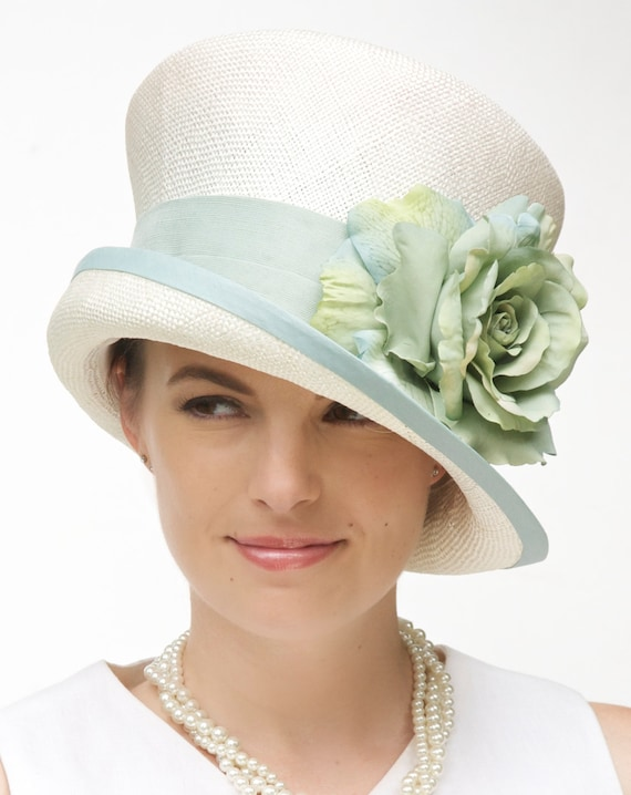 Kentucky Derby Hat, Wedding Hat, Church Hat, Formal Hat, Royal Ascot Hat, Garden Party hat, Tea Party Hat, Aqua turquoise Hat